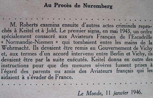 Au procès de Nuremberg Nuremberg